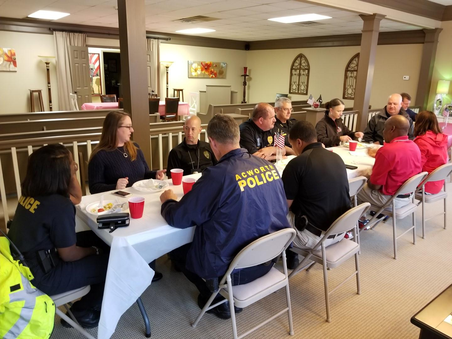 Our 3rd Annual First Responders Lunch for Local Police and Firefighters in Honor of 9/11