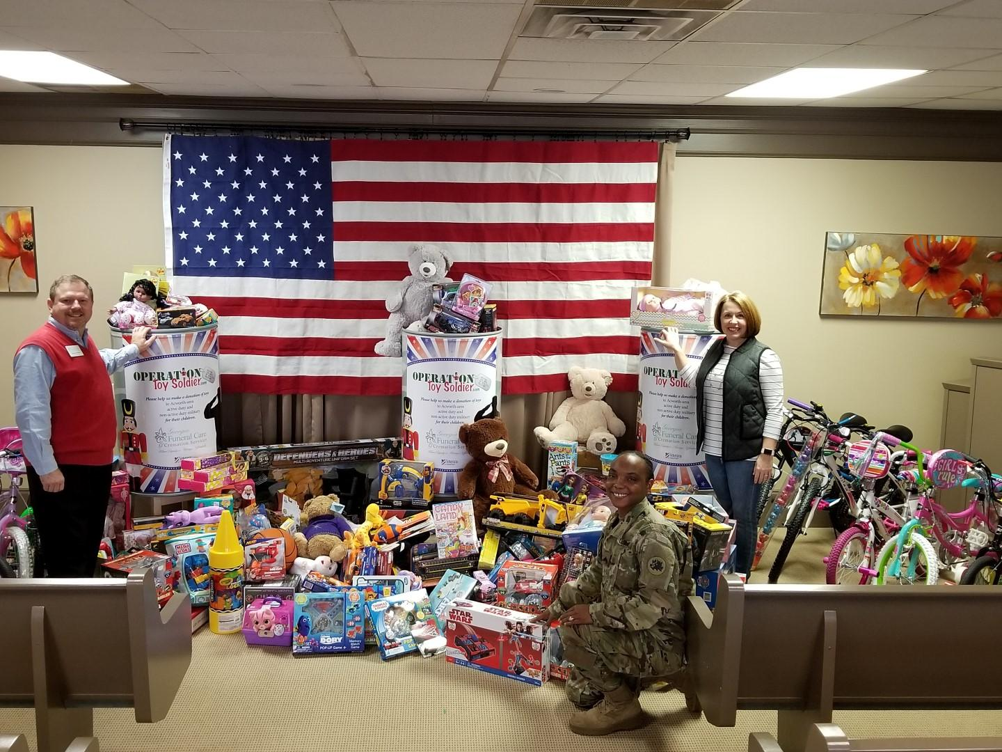 Many thanks to everyone who helped to make Operation Toy Soldier a HUGE SUCCESS!!!