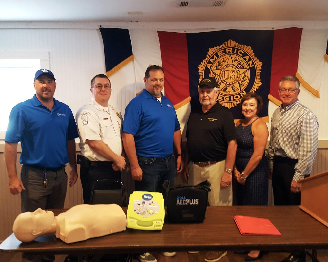 GFC Assists with Defibrillator Training At The Post on August 8, 2019