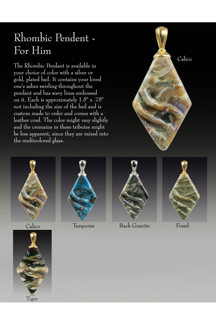 Rhombic Pendent  For Him