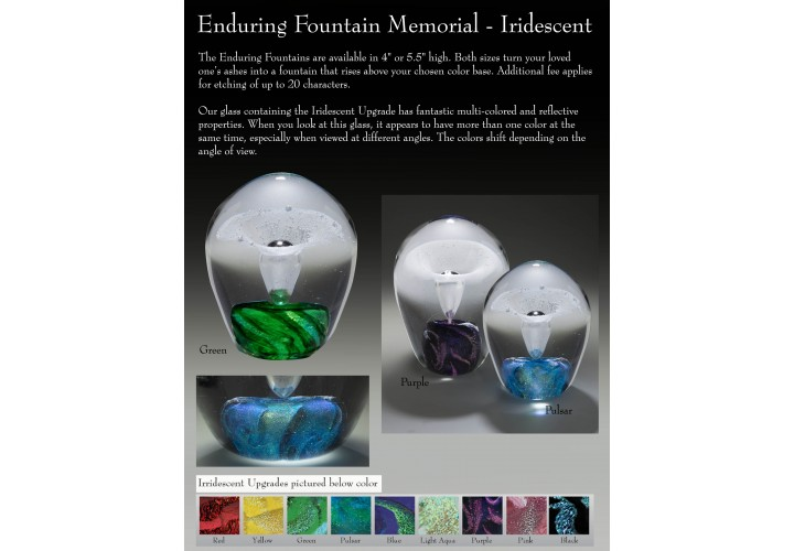 Enduring Fountain Memorial Small - Iridescent