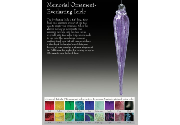 Memorial Ornament Everlasting Icicle