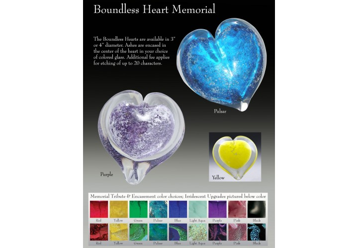 Boundless Heart Memorial Large Iridescent