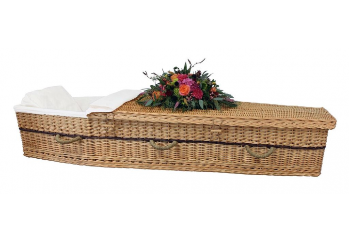 Six Point Willow Bio-Casket